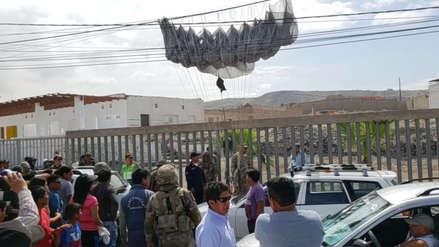 Moquegua | Tres paracaidistas heridos tras perder el control en maniobras de las FF.AA.