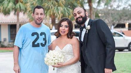 Adam Sandler aparece por sorpresa en una boda en Florida