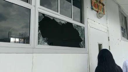 Huancayo: Delincuentes robaron equipos y útiles escolares en colegio prefabricado
