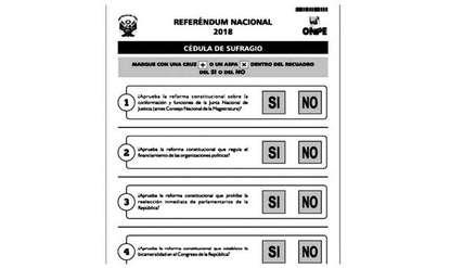 Referéndum 2018: Todo lo que tienes que saber sobre la cédula a marcar el próximo 9 de diciembre