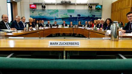 Crisis en Facebook: Mark Zuckerberg dejó la silla vacía frente a legisladores internacionales