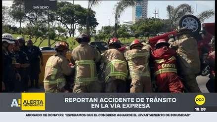 San Isidro: Un herido dejó accidente de tránsito en la Vía Expresa con Javier Prado