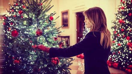 Melania Trump presentó la decoración navideña de la Casa Blanca