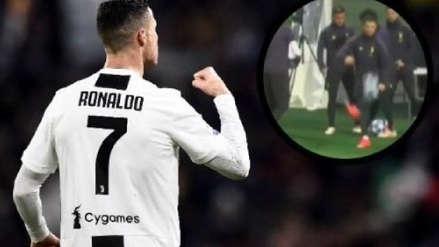 Cristiano Ronaldo: su golazo desde atrás del arco en la previa de la Champions League