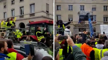 Francia: Manifestantes arrojaron estiércol en oficina del presidente Emmanuel Macron