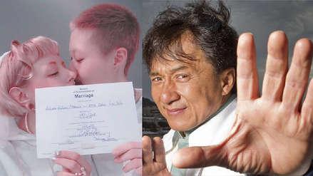 Hija de Jackie Chan se casó con su novia y acusa a su padre de
