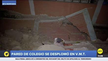La pared de un colegio se derrumbó en Villa María del Triunfo [VIDEO]