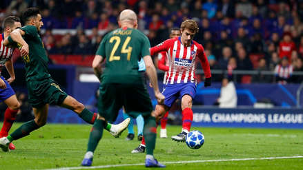 Antoine Griezmann anotó un golazo de 'tres dedos' en la Champions League