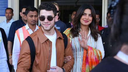 Nick Jonas y Priyanka Chopra comienzan celebraciones por la