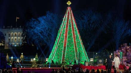 Los Trump encendieron el Árbol Nacional de Navidad de EE.UU.