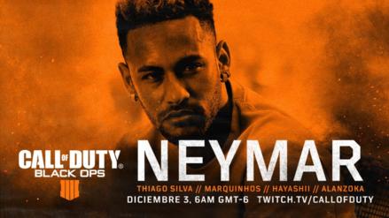 Neymar Jr, Thiago Silva y Marquinhos se volverán streamers de Call of Duty: Black Ops 4