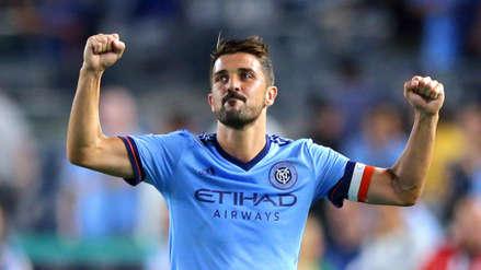 Se juntaron tres estrellas: David Villa dejó la MLS y fue presentado en su nuevo club