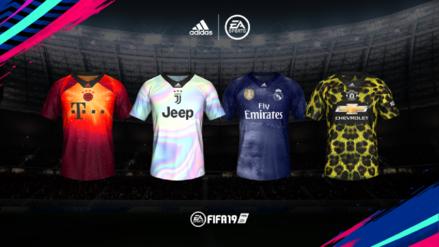 FIFA 19 | EA Sports y Adidas presentan camisetas de edición limitada para el Bayern, Juventus, Manchester y Real Madrid.