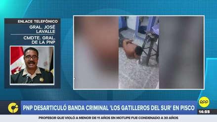 La Policía desarticuló la banda 'Los Gatilleros del Sur' en un megaoperativo en Pisco