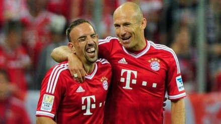 Fin de una era: Arjen Robben y Frank Ribery dejarán el Bayern Munich a final de temporada