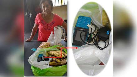 Mujer intentó ingresar celular, batería y chip al penal, camuflado entre frutas