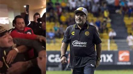Diego Maradona estalló: su reacción tras ser provocado por los hinchas de San Luis
