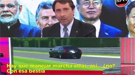 Televisión argentina confundió imágenes de videojuego con entrenamiento de chofer de Donald Trump