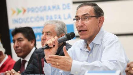 El presidente Martín Vizcarra exhorta a autoridades electas a rechazar la corrupción