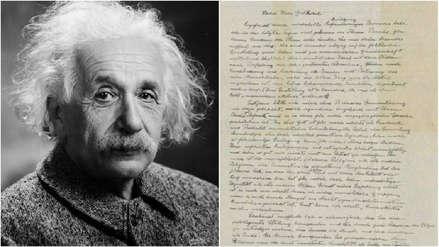 Una famosa carta de Albert Einstein sobre Dios fue vendida por 2,9 millones de dólares