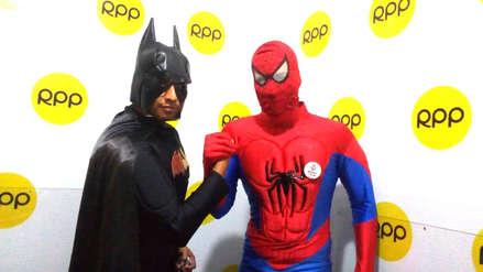 Universitarios se disfrazan de Batman y Spiderman para cultivar los valores en Trujillo