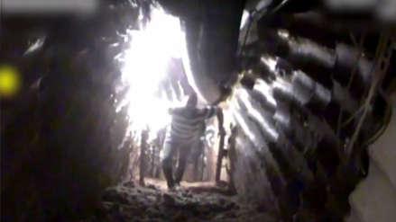 El momento en que un robot de Israel registra a miembros de Hezbolá en un túnel y detona un explosivo