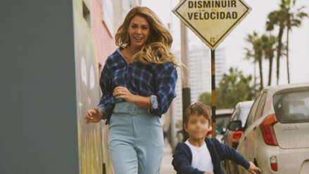 Sheyla Rojas y el conmovedor aliento a su hijo en su primera carrera [VIDEO]