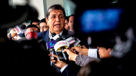 """Alan García sobre investigación del puerto del Callao: """"Lamento que se sumen denuncias sin sospecha alguna"""""""