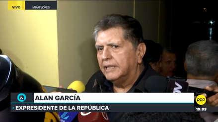 Alan García denunció presunto 'chuponeo':