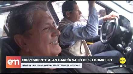 Alan García sale de su domicilio y se muestra en público por primera vez desde que le negaron asilo