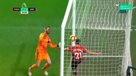 Manchester United: el terrible blooper de David De Gea para el gol del Arsenal