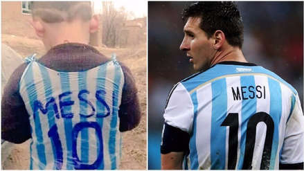 El triste presente del niño que se hizo famoso por su camiseta de Lionel Messi