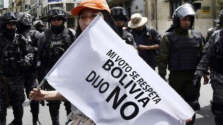 Fotos | Bolivianos protestan contra postulación de Evo Morales a cuarto mandato