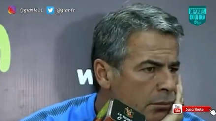 Hinchas de Melgar interrumpieron a Pablo Bengoechea en la conferencia de prensa