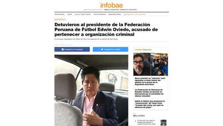 Edwin Oviedo fue detenido y así lo informaron los medios internacionales