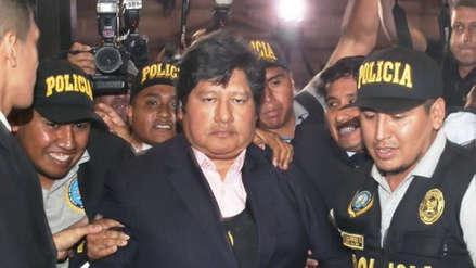 Edwin Oviedo llegó a sede del Poder Judicial para pasar control de identidad