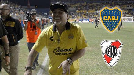 Maradona busca reforzar a los Dorados con estos ídolos de Boca Juniors y River Plate