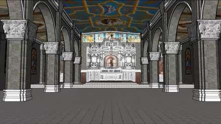 Así quedaría el remozado santuario de la Virgen de la Puerta de Otuzco