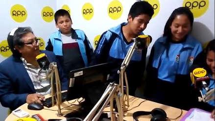 Escolares liberteños conducen programa radial para prevenir la violencia