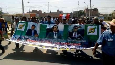 Pobladores de Tumán salen a las calles para festejar detención de Edwin Oviedo