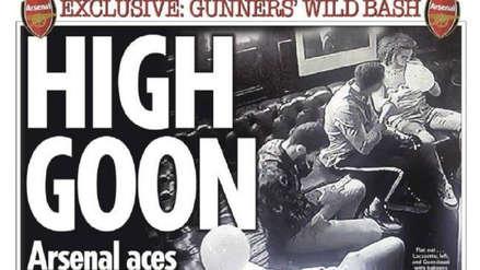 Escándalo: jugadores del Arsenal fueron 'ampayados' inhalando