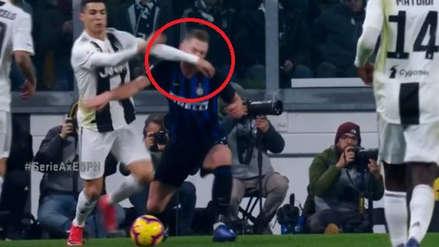 Cristiano Ronaldo hizo sangrar a jugador del Inter de Milán pero no fue expulsado
