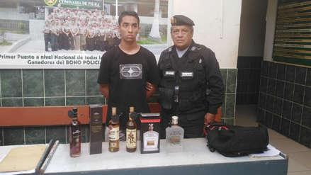 Piura | Joven es detenido por robar botellas de alcohol en plena Ley Seca
