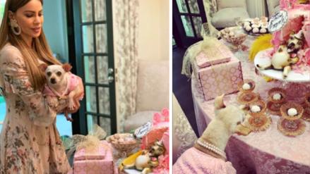 Sofía Vergara es criticada por realizar ostentosa fiesta de cumpleaños a su chihuahua