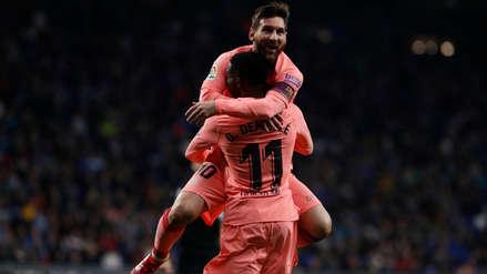 Barcelona goleó 4-0 al Espanyol y reafirmó su liderazgo en la Liga de España