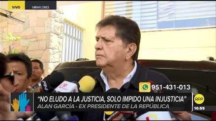 Alan García afirmó que tiene