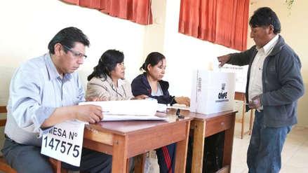 La primera mesa de sufragio se instaló a las 4:15 a.m. en Moquegua