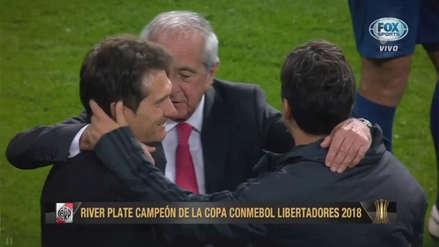 River vs. Boca: Gallardo y D'onofrio consolaron a Barros Schelotto en el Bernabéu