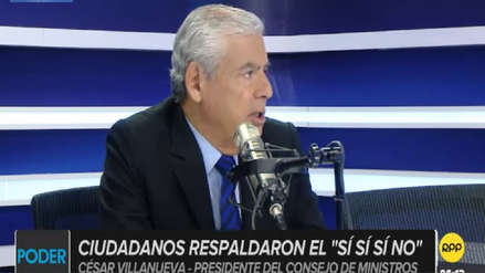 """Villanueva: """"No está en la cabeza de Vizcarra solicitar la cuestión de confianza para presionar"""" al Congreso"""