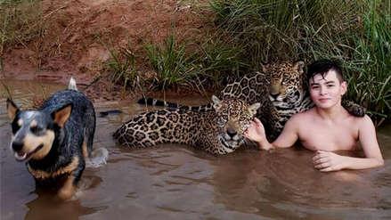 Fotos | Esta es la historia del niño que juega con jaguares en Brasil